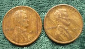 1916 & 1918 S WOODY LINCOLN WHEAT EARS CENTS 2 WOODY MINT ERROR 1 CENT COINS