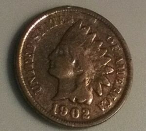 1902 UNITED STATES INDIAN HEAD CENT ERROR ON REVERSE 299
