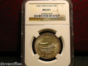 Click now to see the BUY IT NOW Price! 1936 WISCONSIN COMEM. HIGH GRADE NGC MS67  GREAT SPECIMAN