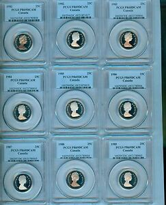 Click now to see the BUY IT NOW Price! 1981   2004 CANADA TWENTY FIVE CENTS PCGS PR 69 DCAM REGISTRY SET