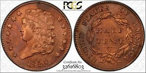 Click now to see the BUY IT NOW Price! 1826 1/2C CLASSIC HEAD HALF CENT PCGS UNCIRCULATED GENUINE QUESTIONABLE COLOR