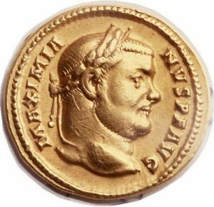 Click now to see the BUY IT NOW Price! MAXIMIANUS 303AD AUTHENTIC ANCIENT ROMAN NGC CERTIFIED XF  GOLD AUREUS COIN