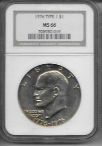 Click now to see the BUY IT NOW Price! 1976 P T 1  EISENHOWER S$1 NGC MS 66   KEY DATE COIN REGISTRY CLOSED HOLDER
