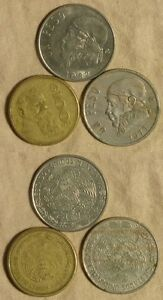 ERROR:  3 MEXICAN COINS MINOR ERRORS   EC2416