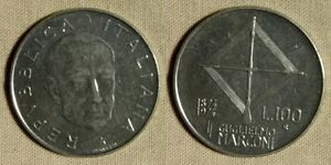 ERROR: ITALY 100 LIRA 1974 DOUBLED DATE & LEGEND  EC1927