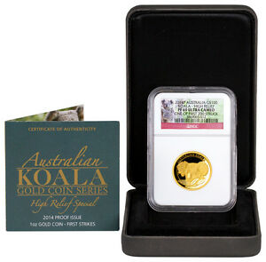 Click now to see the BUY IT NOW Price! 2014 P AUSTRALIA $100 1 OZ. GOLD KOALA NGC PF69 UC  ONE OF FIRST 200  SKU43444