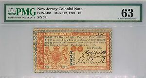 Click now to see the BUY IT NOW Price! 1776 NEW JERSEY COLONIAL NOTE SIX POUNDS FRNJ 183 PMG 63 CHOICE UNCIRCULATED L6