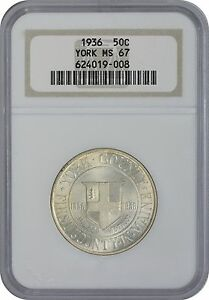 Click now to see the BUY IT NOW Price! 1936 YORK COMMEMORATIVE HALF MS67 NGC MINT STATE 67