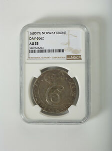 Click now to see the BUY IT NOW Price! 1680 NORWAY  AU  53 NGC SILVER COIN KRONE DAV 3662