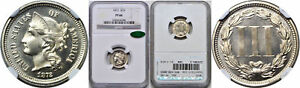 Click now to see the BUY IT NOW Price! 1872 NICKEL THREE CENT PIECE NGC PF 66 CAC
