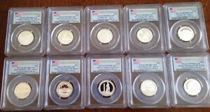 Click now to see the BUY IT NOW Price! 2012 AND 2013 S LIMITED EDITION SILVER PROOF QUARTER SET PCGS PR70 FIRST STRIKE