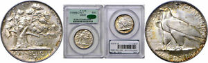 Click now to see the BUY IT NOW Price! 1935 CONNECTICUT SILVER COMMEMORATIVE PCGS MS 67 CAC