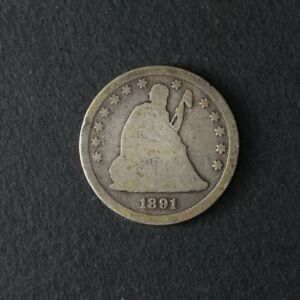 1891 S SEATED LIBERTY QUARTER GREAT DEALS FROM THE TECC BARGAIN BIN