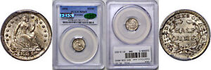 Click now to see the BUY IT NOW Price! 1854 SEATED LIBERTY HALF DIME PCGS MS 65 CAC ARROWS