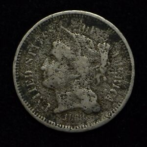 1868 3 CENT NICKEL UNITED STATES COIN CORRODED  CN4142