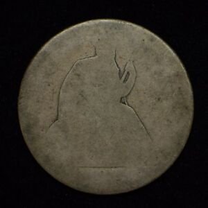 1870'S SEATED LIBERTY HALF DOLLAR DATE IS NOT VISIBLE  CN4185