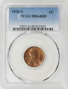 Click now to see the BUY IT NOW Price! 1928 S PCGS MS64 RD LINCOLN WHEAT PENNY CENT GREAT COLOR TOUGH FIND   I 10020