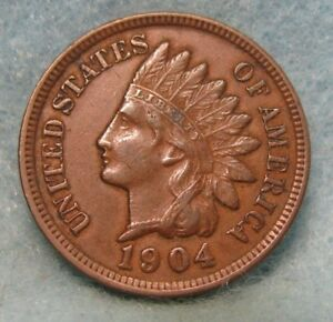 1904 INDIAN HEAD PENNY NICE XF   CIRCULATED US COIN 1515