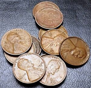 LOT OF 11X 1944 S LINCOLN CENTS / WHEAT PENNIES   GREAT VALUE