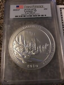 Click now to see the BUY IT NOW Price! PCGS YOSEMITE NATIONAL PARKS SP70  5 OUNCE SILVER QUARTER COA