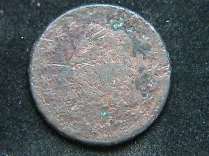 1812 CLASSIC HEAD LARGE CENT TOUGH DATE  HOLE FILLER