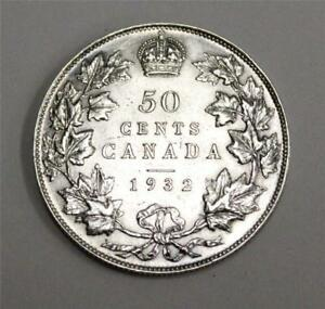 Click now to see the BUY IT NOW Price! 1932 CANADA KEY DATE 50 CENTS LY FINE  CONDITION EF45