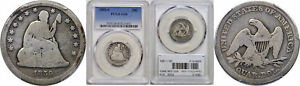 1859 S SEATED LIBERTY QUARTER PCGS G 6