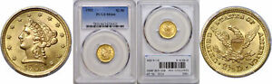 1902 $2.50 GOLD COIN PCGS MS 66