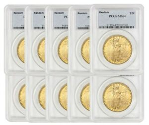 Click now to see the BUY IT NOW Price! TEN SPOT FREE PCGS MS 64 $20 GOLD SAINT GAUDEN  SG64