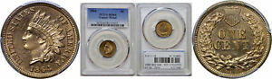 1864 C/N INDIAN HEAD CENT PCGS MS 64
