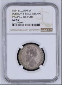 Click now to see the BUY IT NOW Price! NGC BELGIUM  2 FRANCS 1844 FRANC SILVER  LEOPOLD I  KM 9.2  MORIN  21B
