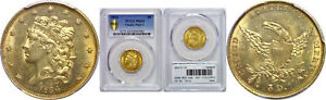 Click now to see the BUY IT NOW Price! 1834 $5 GOLD COIN PCGS MS 63 CLASSIC HEAD PLAIN 4