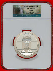 Click now to see the BUY IT NOW Price! 2010 P ATB 5OZ SILVER 25C HOT SPRINGS NGC SP70