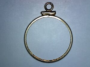 14K GOLD BEZEL FOR US $5. GOLD COIN   LIBERTY OR INDIAN