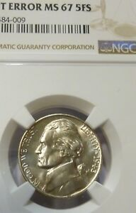 Click now to see the BUY IT NOW Price! 1943 D JEFFERSON NICKEL NGC STRUCK LAM FINEST REGISTRY MINT ERROR MS 67 5FS