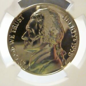 Click now to see the BUY IT NOW Price! 1958 NICKEL JEFFERSON NGC STRUCK THRU FINEST REGISTRY MINT ERROR CAMEO PROOF 69