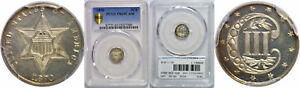 1870 SILVER THREE CENT PIECE PCGS PR 65 CAM