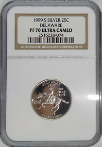 Click now to see the BUY IT NOW Price! 1999 S 1ST STATE QUARTER DELAWARE PF70 SILVER PROOF ULTRA CAMEO
