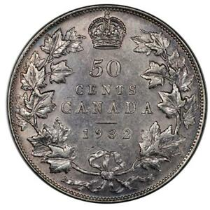 Click now to see the BUY IT NOW Price! 1932 CANADA 50 CENTS PCGS CLEANED AU DETAIL