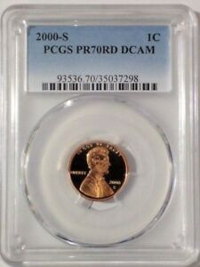 2000 S LINCOLN PROOF PENNY 1C PCGS PR70RD DCAM