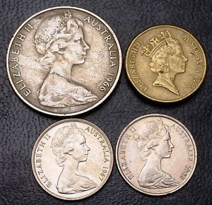 LOT OF 4X AUSTRALIA COINS   VARIOUS DATES & DENOMINATIONS