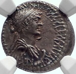 Click now to see the BUY IT NOW Price! CLEOPATRA & ANTONY AUTHENTIC ANCIENT 34 BC SILVER ROMAN COIN CERTIFIED NGC CH XF