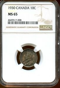 Click now to see the BUY IT NOW Price! MARVELOUS 1930 NGC MS 65 CANADA 10C COIN  XF226