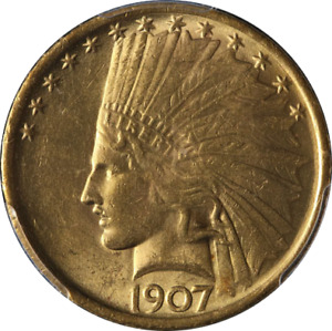 Click now to see the BUY IT NOW Price! 1907 INDIAN GOLD $10 PCGS MS63 NO MOTTO FANTASTIC LUSTER NICE STRIKE