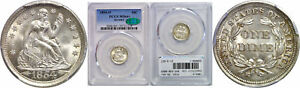 Click now to see the BUY IT NOW Price! 1854 O SEATED LIBERTY DIME PCGS MS 64  CAC ARROWS