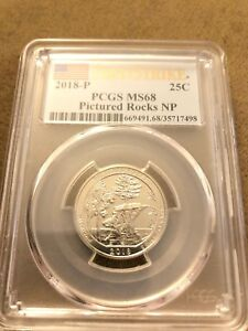 Click now to see the BUY IT NOW Price! 2018 P PICTURED ROCKS ATB NATIONAL PARK QUARTER MS68 FIRST STRIKE POP 5