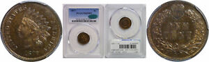 1877 INDIAN HEAD CENT PCGS PR 65 BN CAC