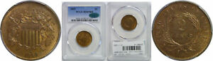 1869 TWO CENT PIECE PCGS MS 65 RB CAC