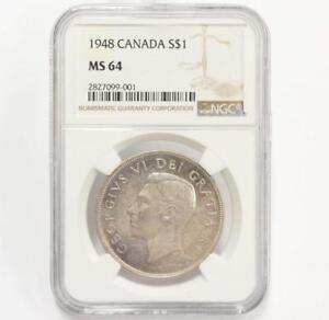 Click now to see the BUY IT NOW Price! 1948 CANADA SILVER DOLLAR NGC MS64 SUPERIOR HIGH END MS64