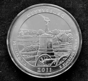 2011 AMERICA THE BEAUTIFUL 5 OUNCE .999 SILVER COIN UNCIRCULATED   GETTYSBURG